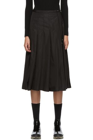 Moncler Black Technical Pleated Skirt