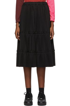 Comme des Garçons Black Tiered Pleated Mid-Length Skirt