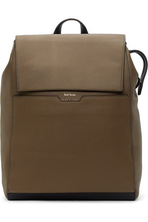 Paul Smith Taupe Leather Signature Stripe Backpack