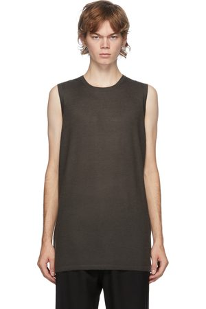 Frenckenberger SSENSE Exclusive Green Cashmere Tank Top