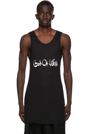 ANN DEMEULEMEESTER SSENSE Exclusive Black God of Wild Chic Tank Top