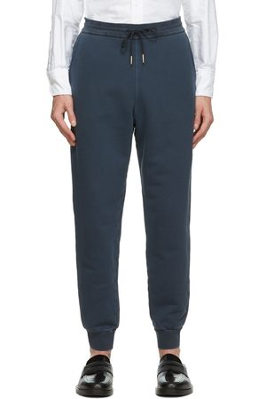 Thom Browne Navy Loopback Classic Sweatpants