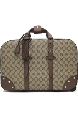 Gucci Beige Wheeled GG Supreme Carry-On Weekender Bag
