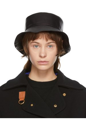 Loewe Black Leather Fisherman Hat