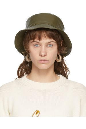 Loewe Khaki Leather Fisherman Hat