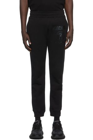 Moschino Black Faded Logo Sweatpants