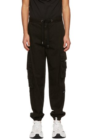 Dolce & Gabbana Black Garment-Dyed Jogging Cargo Pants