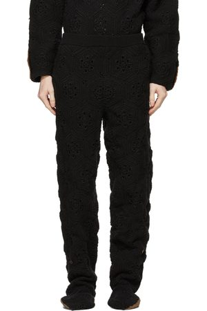 DOUBLET Men Sports Trousers - Hand-Crochet Bear Sweatpants