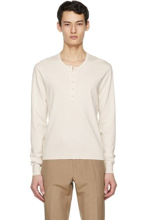 Tom Ford Off-White Marl Jersey Henley