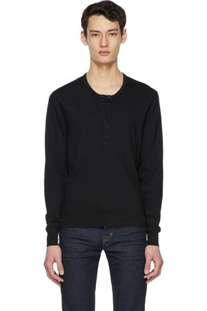 TOM FORD Black Marl Jersey Henley