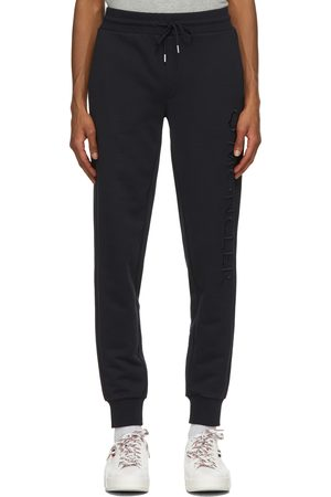 Moncler Navy Embroidered Logo Sweatpants