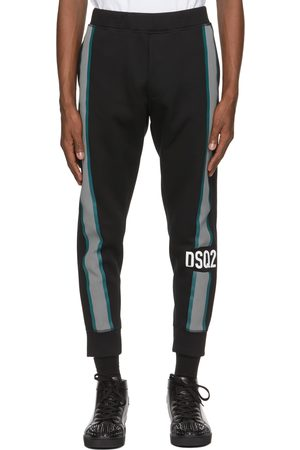 Dsquared2 Black Side Logo Ski Lounge Pants
