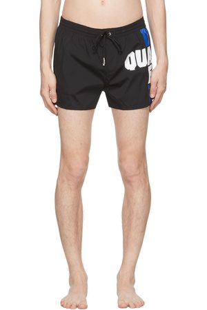 Dsquared2 Black Block Logo Swim Shorts