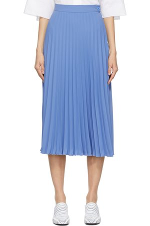 MM6 MAISON MARGIELA Women Pleated Skirts - Blue Pleated Skirt