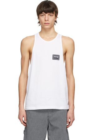 Versace Jeans Couture Men Tank Tops - White Patch Logo Tank Top