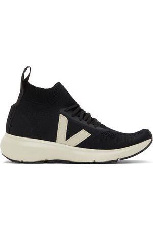 Rick Owens Black & Off-White Veja Edition Sock Runner Sneakers