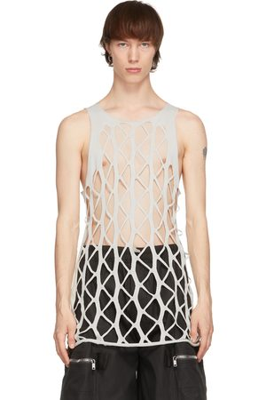 Rick Owens Taupe Net Tank Top