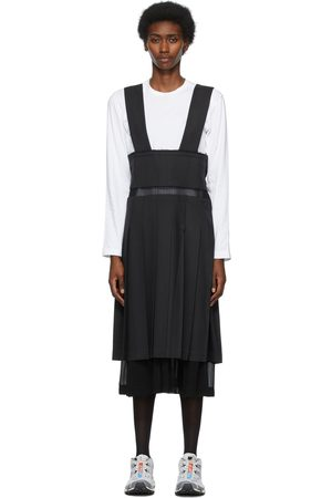Comme des Garçons Black Georgette Layered & Pleated Skirt