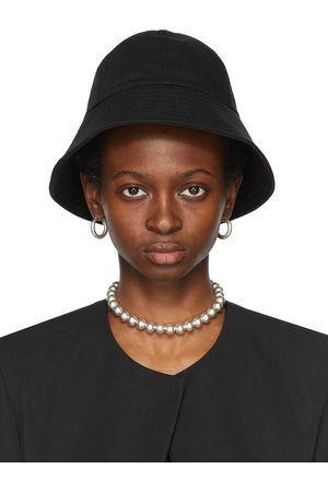 Jil Sander Black Canvas Bucket Hat