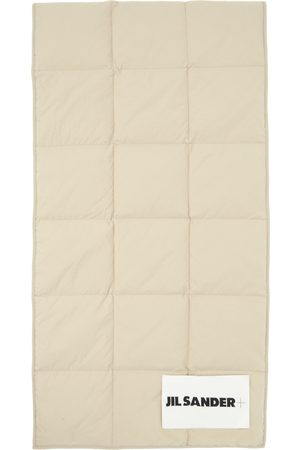 Jil Sander Taupe Down Quilted Scarf