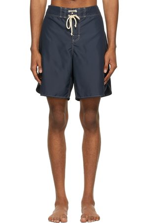 Jil Sander Men Swim Shorts - Black Satin Swim Shorts