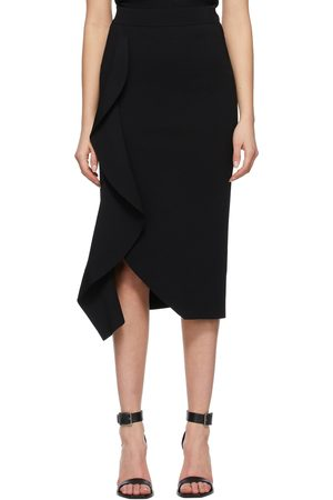 Alexander McQueen Black Engineered Sculpted Pencil Skirt