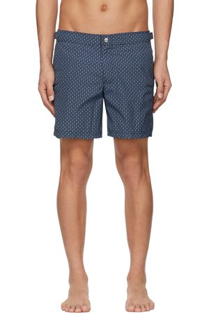 Alexander McQueen Navy & Blue Skull Dots Swim Shorts