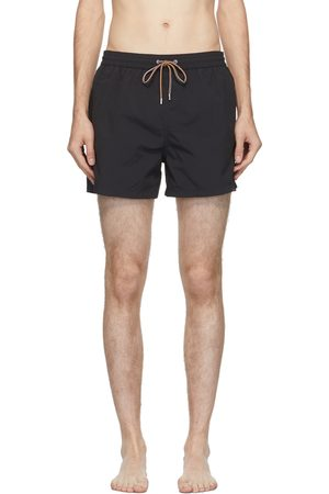 Paul Smith Black Plain Swim Shorts
