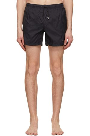 Armani Navy Packable Logo Swim Shorts