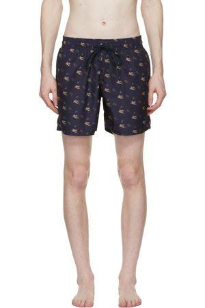 Etro Navy Pegaso Swim Shorts