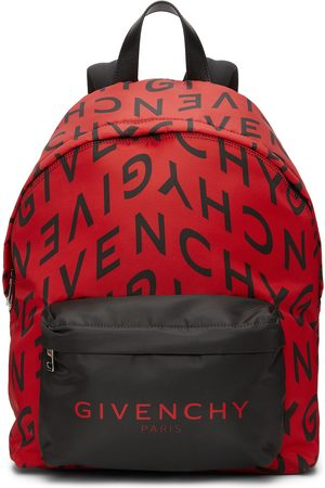 Givenchy Red & Black Refracted Logo Backpack