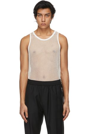 Givenchy Off-White Metallized Mesh Slim Fit Tank Top