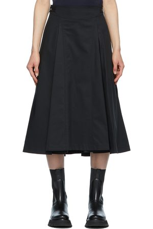 3.1 Phillip Lim Black Pleated Biker Skirt