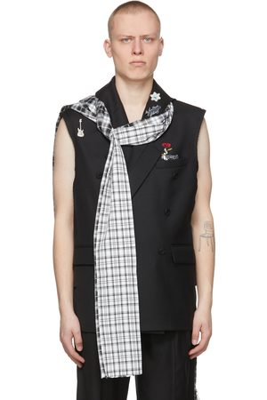 C2H4 Black 'My Own Private Planet' Alternate Scarf Variant Tailored Vest