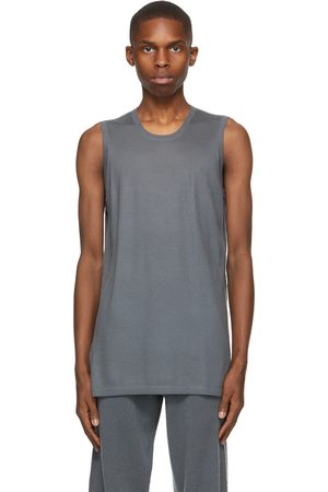 Frenckenberger Grey Cashmere Muscle Tank Top