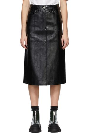 Stand Studio Black Faux-Leather Arabella Skirt