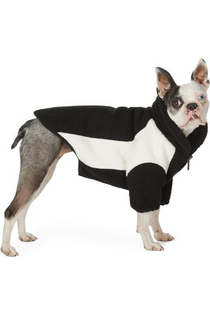 We11 Done Fleece Jackets - SSENSE Exclusive Reversible Black & Off-White Oversized Fleece Dog Jacket