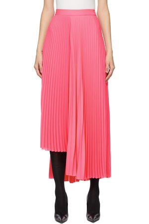 Balenciaga Pink Pleated Asymmetric Skirt