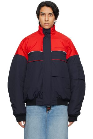 Balenciaga Navy & Red Ski Bomber Jacket