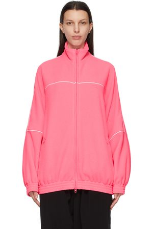 Balenciaga Pink Double-Brushed Fleece Track Jacket