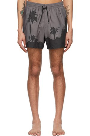 Dries Van Noten Grey Len Lye Edition Graphic Swim Shorts