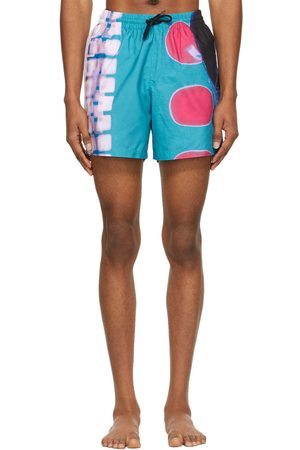 DRIES VAN NOTEN Blue & Pink Len Lye Edition Graphic Swim Shorts