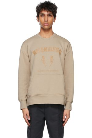 Neil Barrett Beige 'Relentless' Sport Thunderbolts Sweatshirt