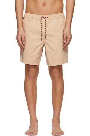 Burberry Men Swim Shorts - Beige Side Stripe Swim Shorts