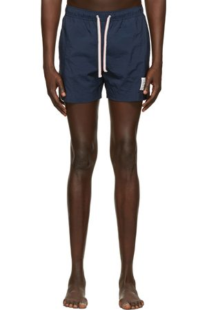 Thom Browne Navy Nylon Drawcord Swim Shorts