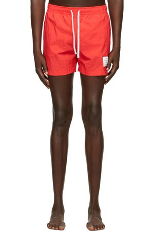 Thom Browne Red Nylon Drawcord Swim Shorts