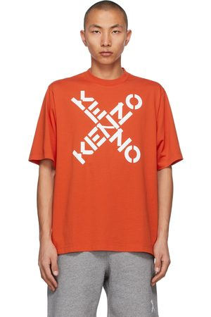 Kenzo Men Sports T-shirts - Orange Sport Big X T-Shirt