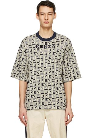 Kenzo Men Sports T-shirts - Taupe Sport Monogram T-Shirt