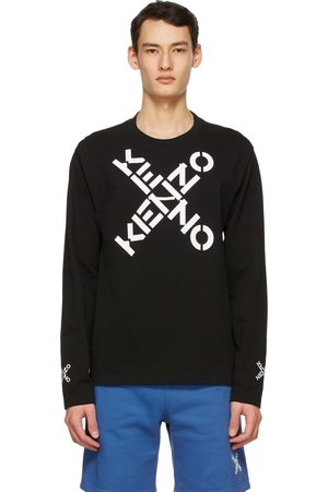 Kenzo Men Sports T-shirts - Black Sport Long Sleeve T-Shirt