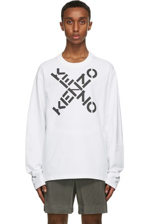 Kenzo White Big X Sport Skate Long Sleeve T-Shirt